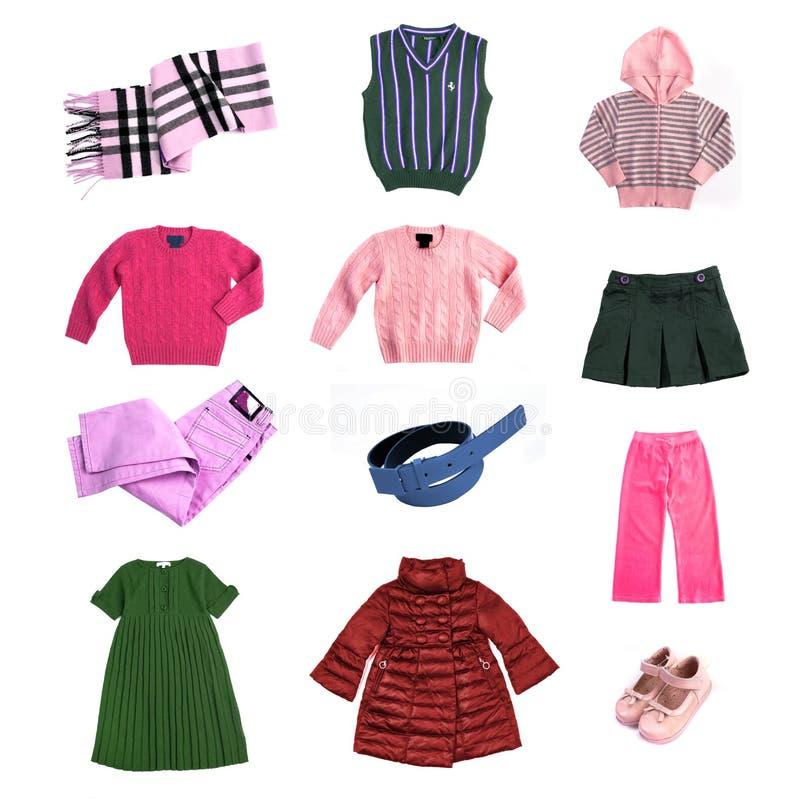 Vestiti dei bambini impostati fotografie stock libere da diritti