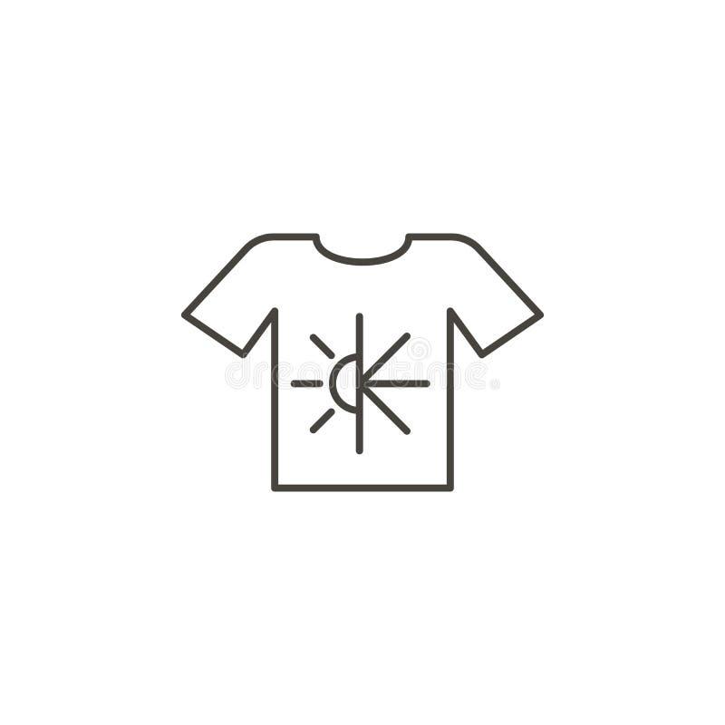 Vestiti del cotone, icona della camicia - vettore Concetto naturale dell'illustrazione semplice dell'elemento Vestiti del cotone, illustrazione vettoriale