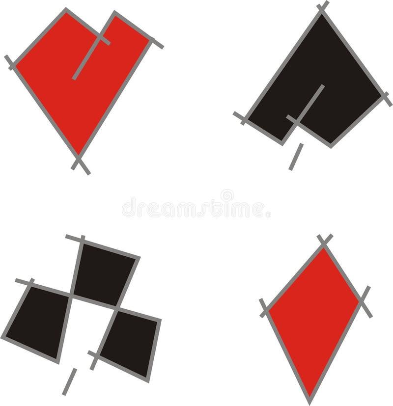 Vestiti della scheda illustrazione di stock