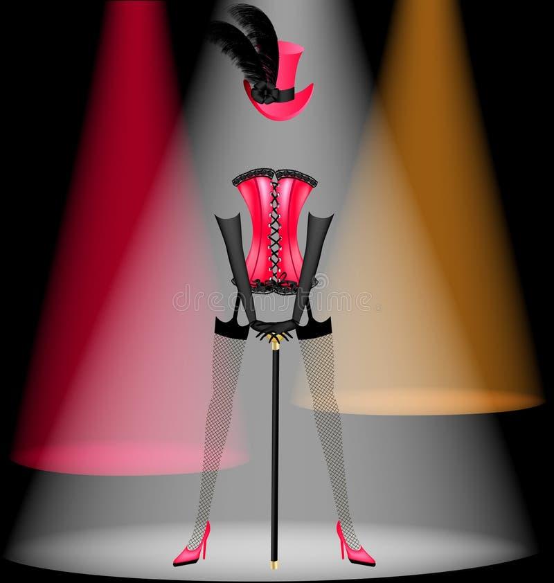 vestiti di dancing royalty illustrazione gratis