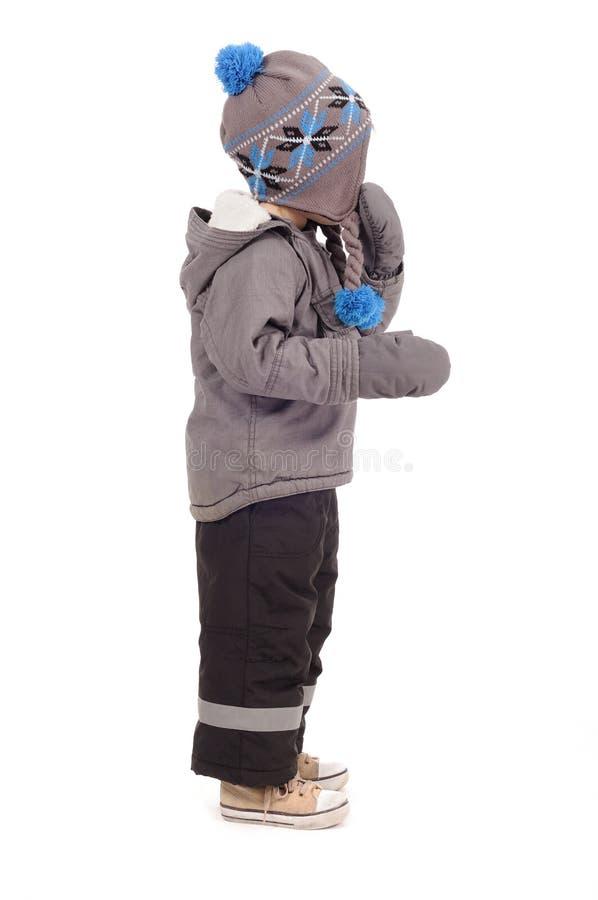 Vestiti di inverno, bambino fotografie stock