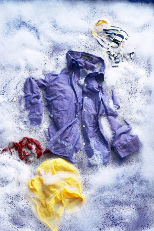Vestiti di lavaggio fotografia stock