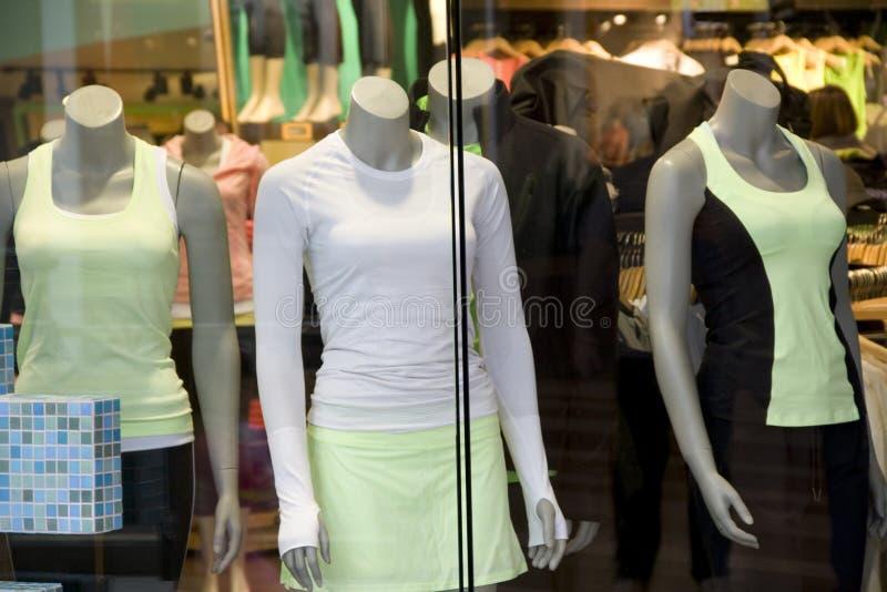 Negozio di vestiti di sport di yoga immagine stock