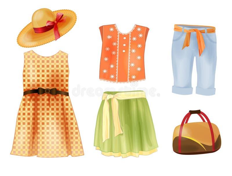 vestiti per le ragazze illustrazione vettoriale