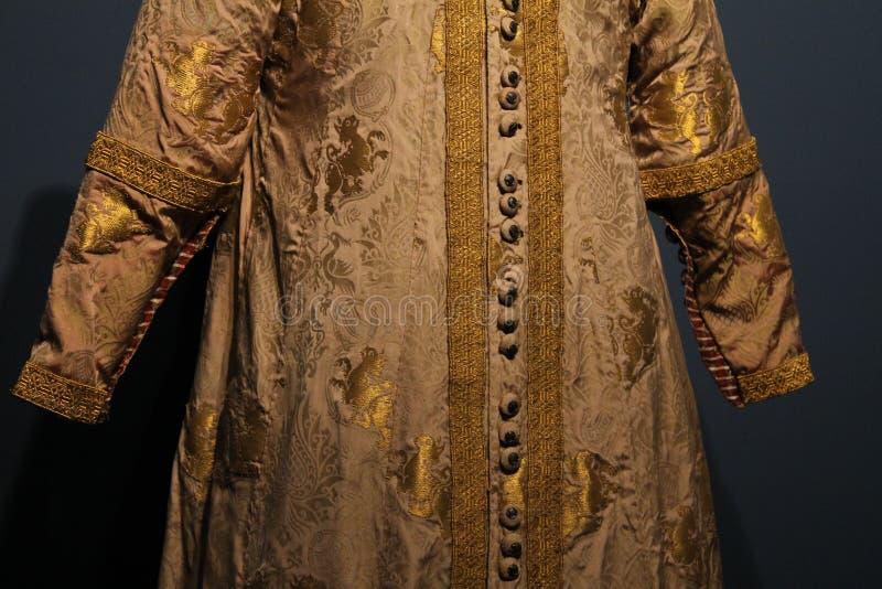Vestiti storici dei dettagli l'imperatore Lazara fotografie stock