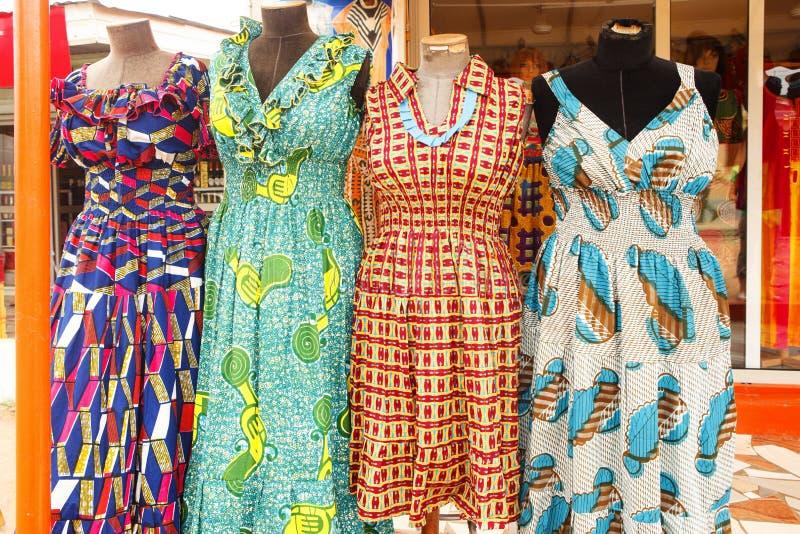 Vestito a Accra Ghana fotografia stock