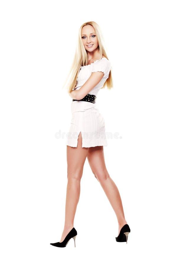 Vestito bianco fotografie stock