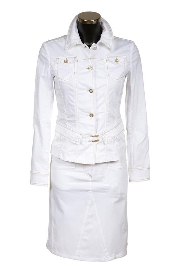 Vestito bianco dei jeans immagini stock libere da diritti