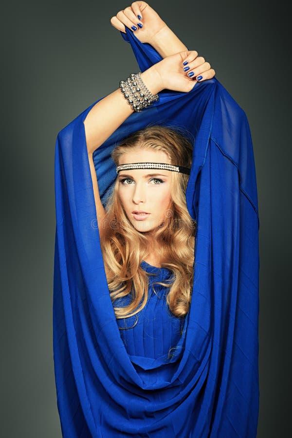 Vestito blu fotografia stock libera da diritti