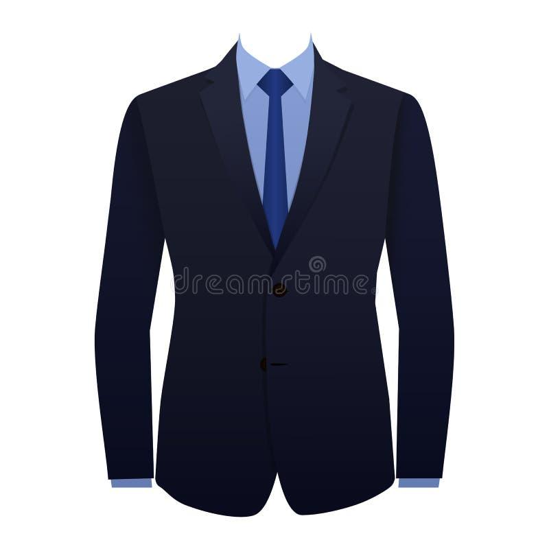 Vestito blu di affari fotografia stock