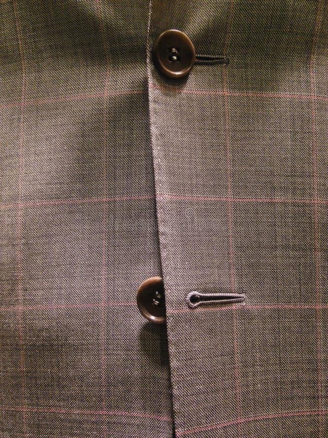 Vestito corporativo classico marrone scozzese dal vestito fotografia stock libera da diritti