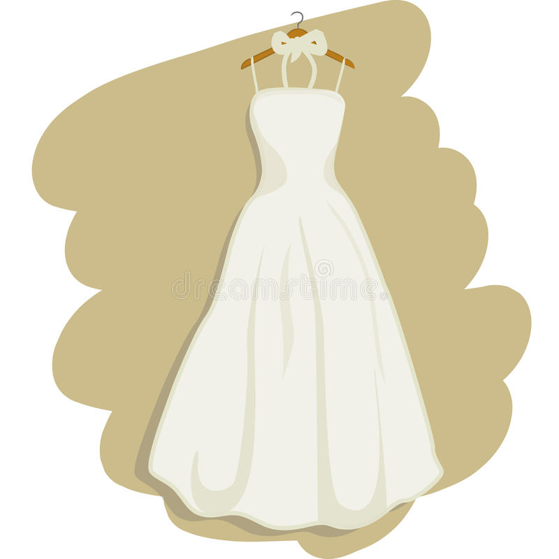 Vestito da cerimonia nuziale illustrazione vettoriale