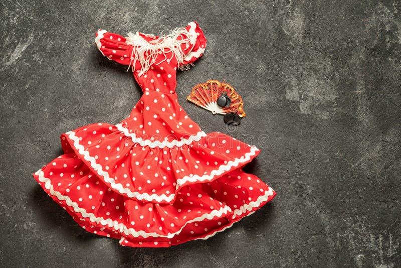 Vestito da flamenco per la bambola fotografia stock