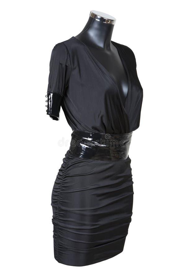 Vestito da sera nero immagine stock