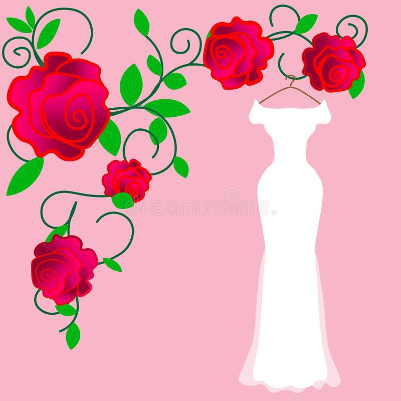 Vestito da sposa perfetto per la sposa perfetta nel suo giorno perfetto illustrazione vettoriale