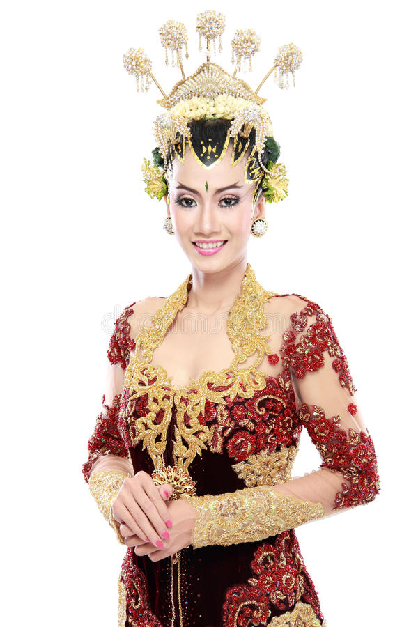 Download Vestito Da Sposa Tradizionale Dalla Donna Di Java Fotografia Stock - Immagine di bride, ritratto: 30829832