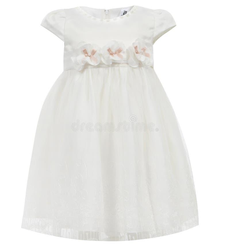 Vestito dal ` s dei bambini isolato su fondo bianco fotografia stock libera da diritti