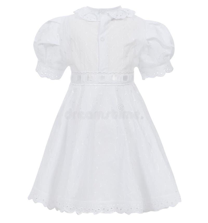 Vestito dal ` s dei bambini isolato su fondo bianco immagine stock libera da diritti