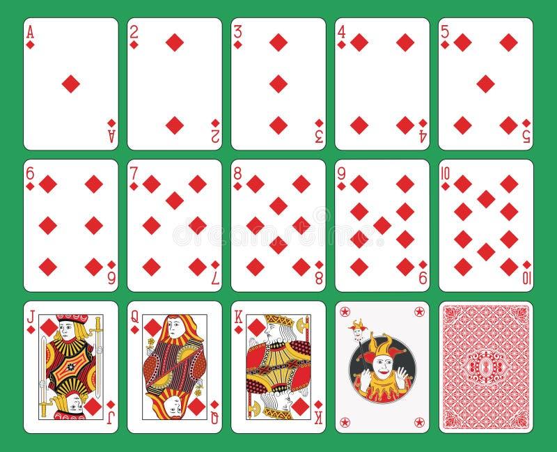 Vestito dei diamanti delle carte da gioco illustrazione vettoriale