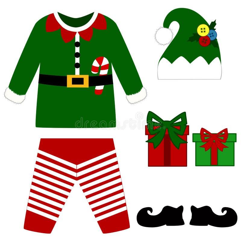 Vestito del pagliaccetto Il Natale costume per i bambini E illustrazione di stock