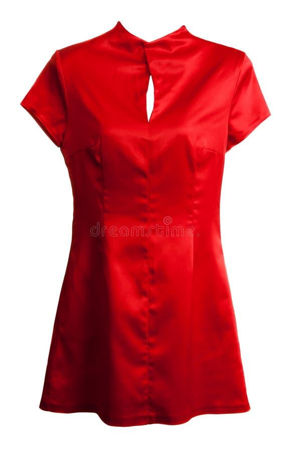 Vestito della donna di seta rossa fotografia stock libera da diritti