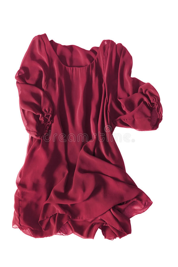 Vestito di seta isolato fotografia stock libera da diritti