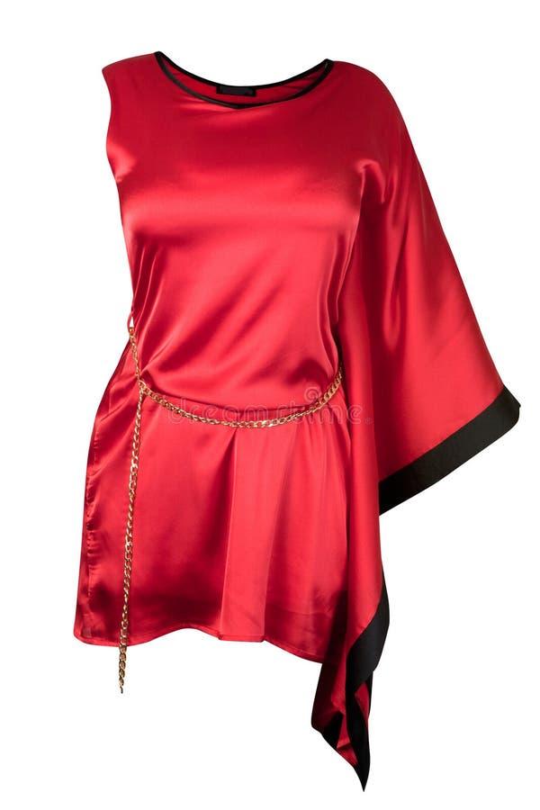 Vestito di seta rosso fotografia stock libera da diritti