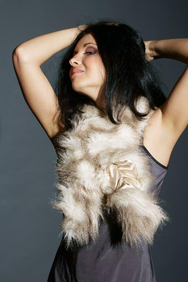 Vestito e pelliccia fotografia stock libera da diritti