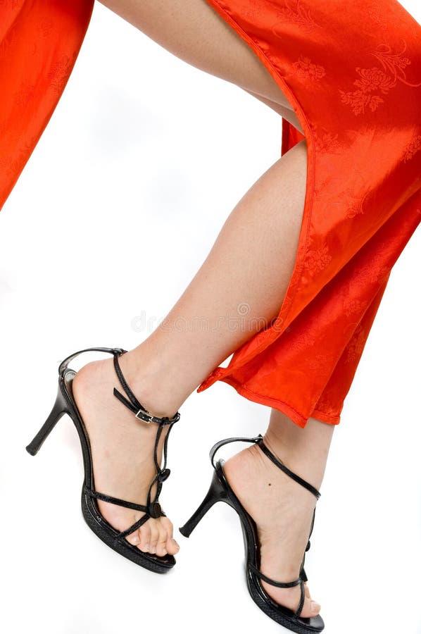 Vestito e piedini tradizionali immagini stock