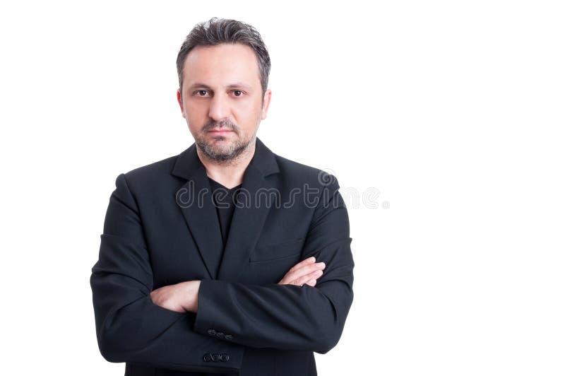 Vestito elegante casuale e maglietta della mafia italiana immagine stock libera da diritti