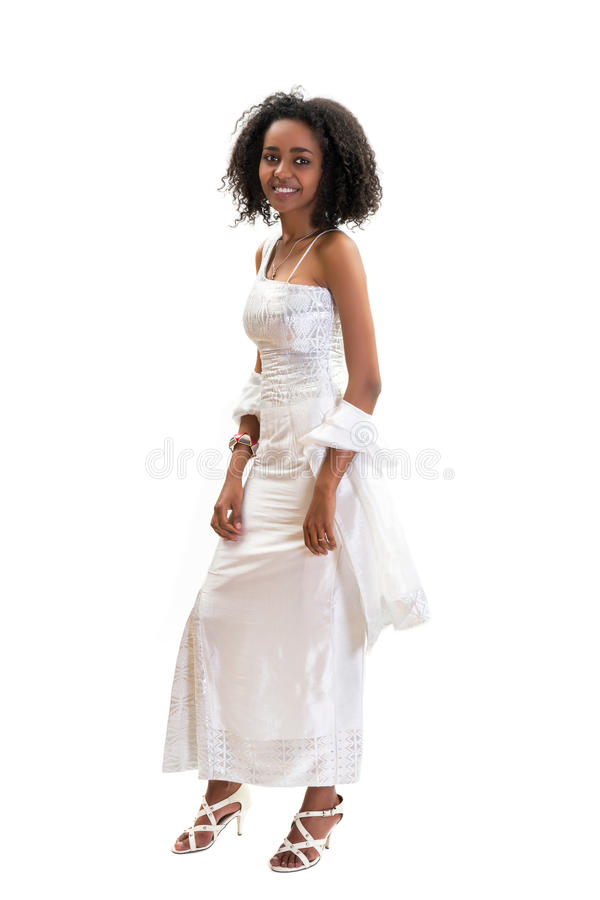 Vestito etiopico moderno fotografia stock