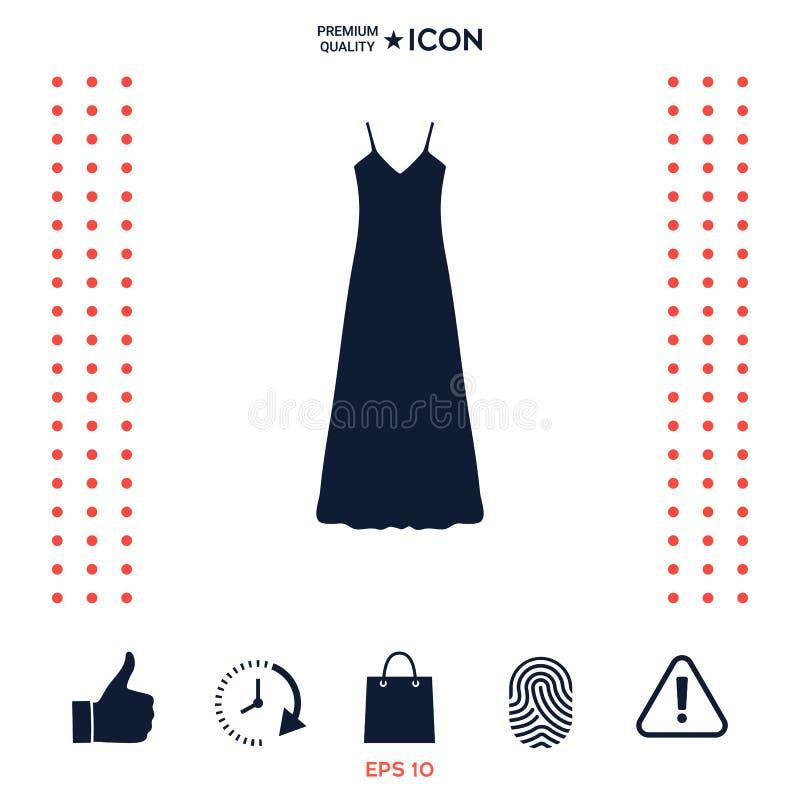 Download Vestito Lungo Da Sera, Dal Vestito, Combinazione O Camicia Da Notte, La Siluetta Voce Di Menu Nel Web Design Illustrazione Vettoriale - Illustrazione di modello, folder: 117975857