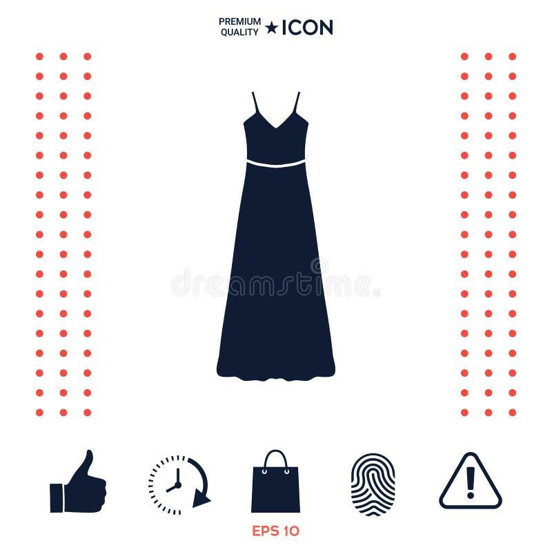 Download Vestito Lungo Da Sera, Dal Vestito O Prendisole Con La Cinghia, La Siluetta Voce Di Menu Nel Web Design Illustrazione Vettoriale - Illustrazione di modo, vestito: 117975859