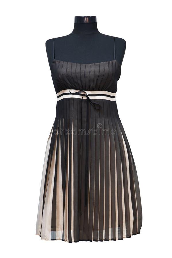 Vestito nero da estate fotografia stock