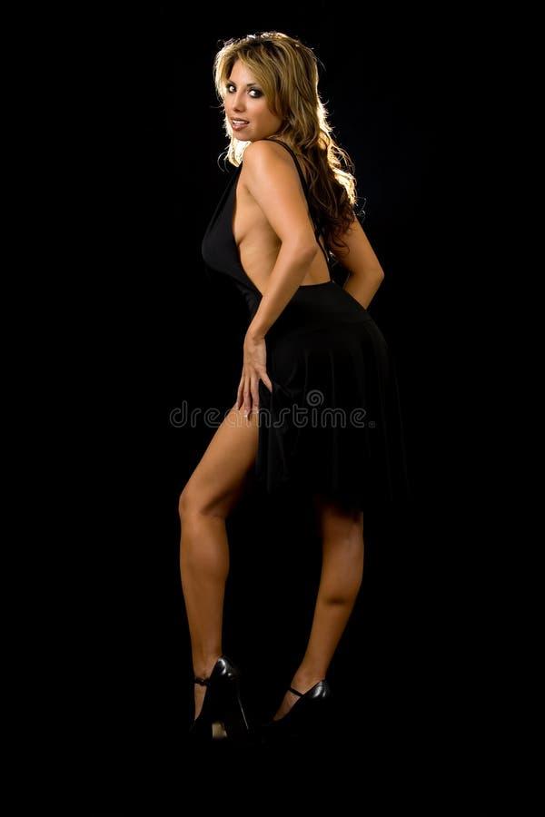 Vestito nero sexy fotografia stock libera da diritti