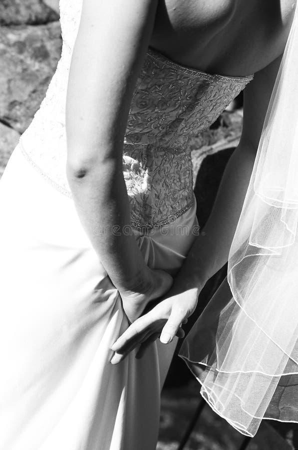Vestito nuziale dal particolare fotografie stock