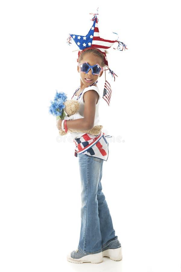 Vestito per esposizione patriottica immagine stock
