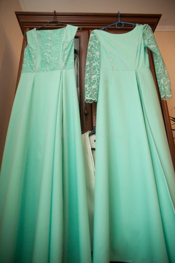 vestito per le damigelle d'onore della sposa fotografia stock libera da diritti