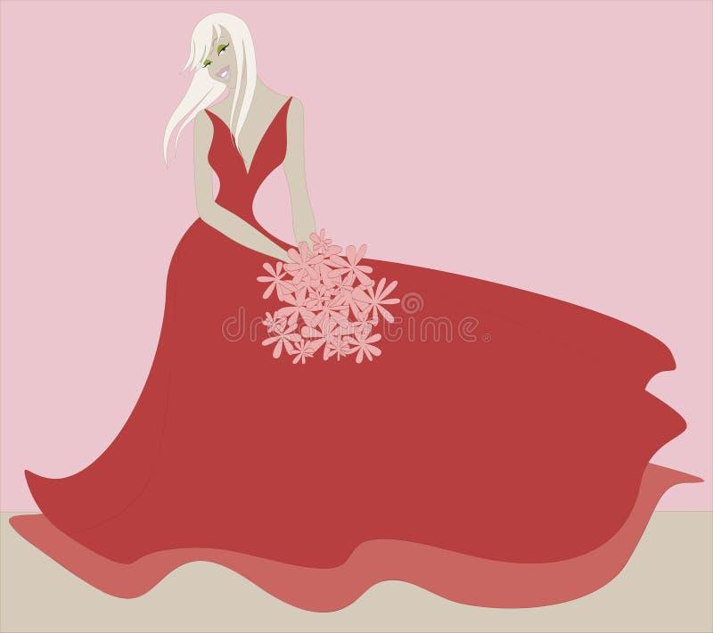 Vestito rosso illustrazione di stock