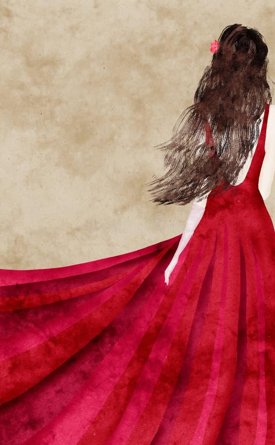 Vestito rosso illustrazione vettoriale