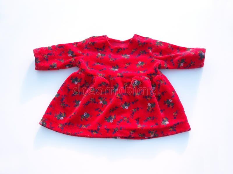 Vestito rosso dalla bambola fotografia stock libera da diritti