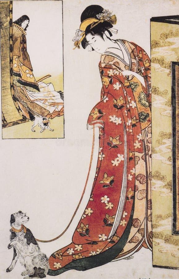 Vestito tradizionale giapponese antico fotografia stock for Vestito tradizionale giapponese femminile