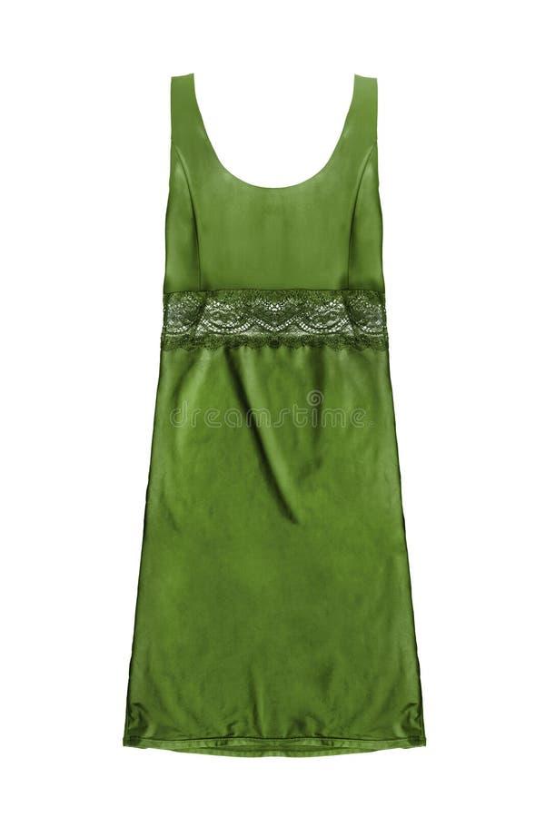 Vestito verde isolato fotografia stock libera da diritti