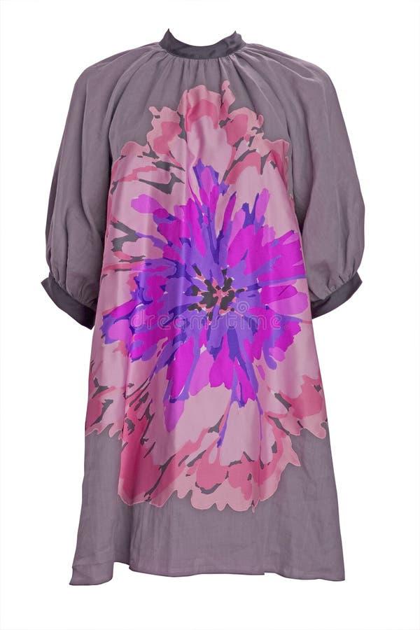 Vestito viola dal fiore immagine stock