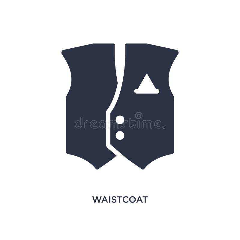 vestpictogram op witte achtergrond Eenvoudige elementenillustratie van klerenconcept stock illustratie