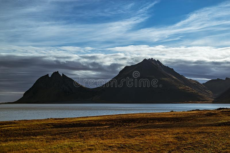 Vestrahorn mountain in Iceland royalty free stock image