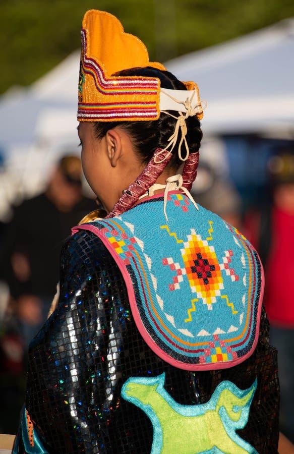 Vestuário do nativo americano imagens de stock