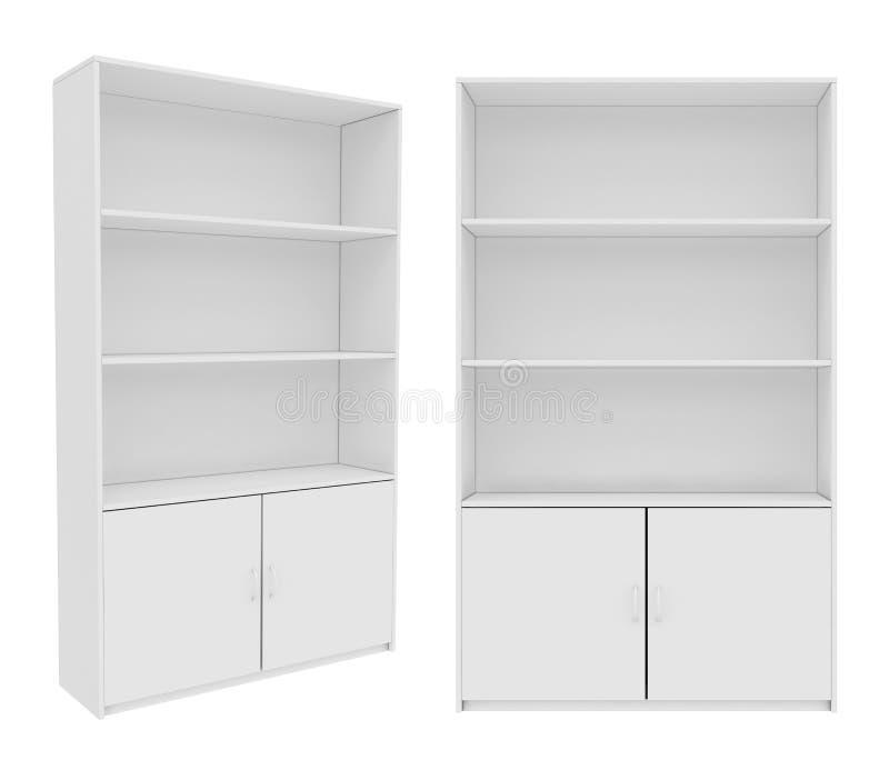 Vestuário isolado no fundo branco, rendição 3D ilustração stock