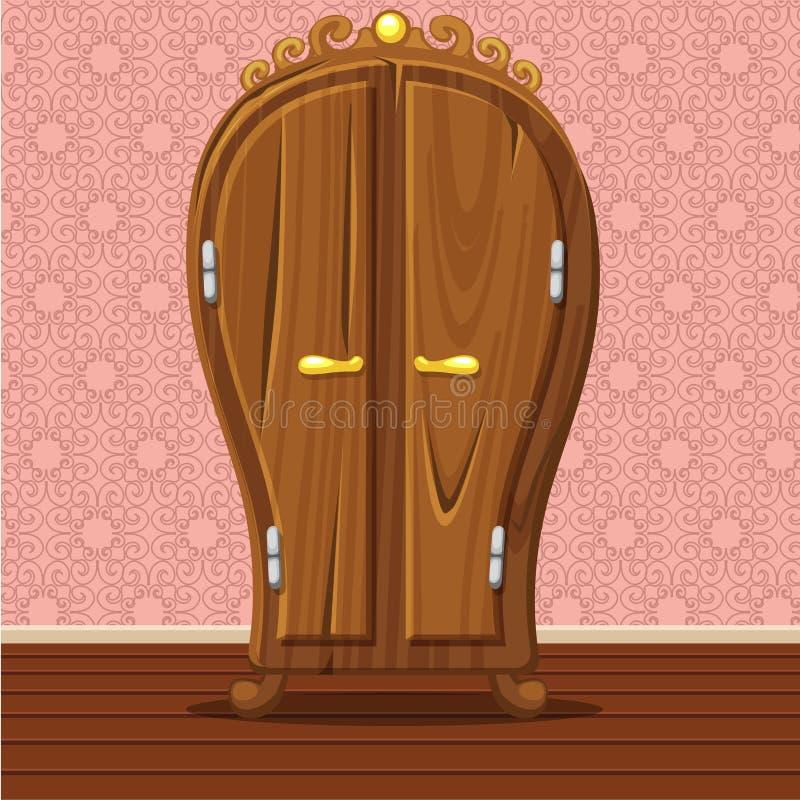 Vestuário retro fechado engraçado dos desenhos animados ilustração royalty free