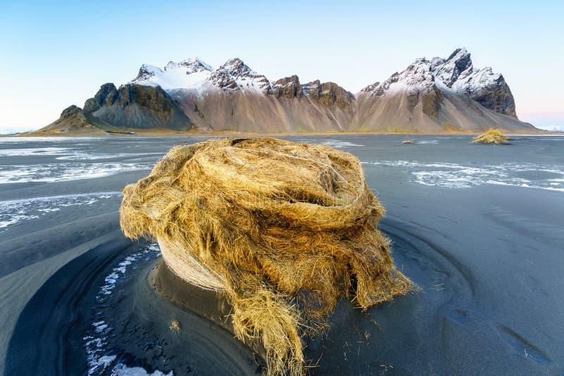 Vesturhorn Mountain, Iceland stock photography
